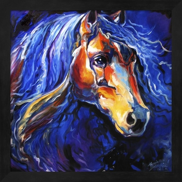 Marcia Baldwin 'Friesian Night' Framed Art