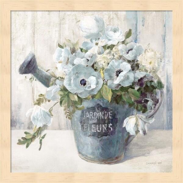 Danhui Nai 'Garden Blooms II Blue Crop' Framed Art