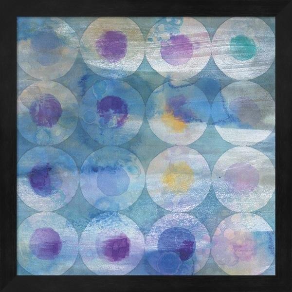 Danhui Nai 'Touching Circles III' Framed Art