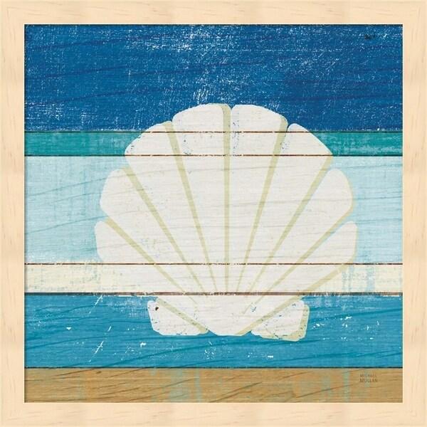 Michael Mullan 'Beachscape Shell v2' Framed Art