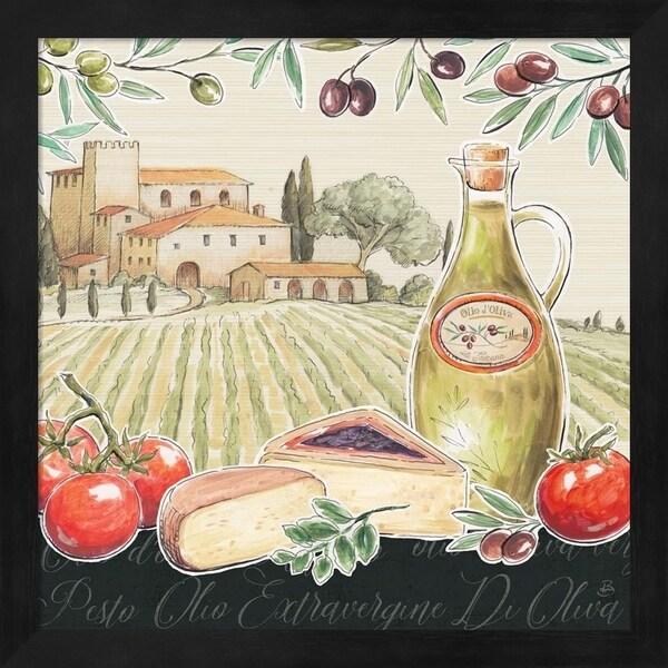 Daphne Brissonnet 'Tuscan Flavor III' Framed Art