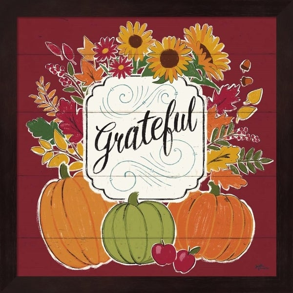 Janelle Penner 'Thankful II Red' Framed Art