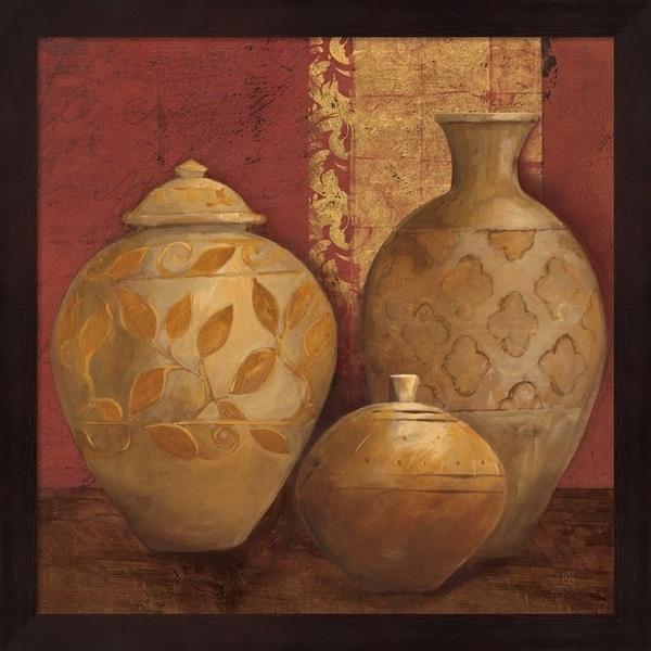 Avery Tillmon 'Aegean Vessels on Spice Crop' Framed Art