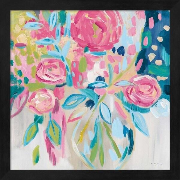 Farida Zaman 'Summer Pink Floral' Framed Art