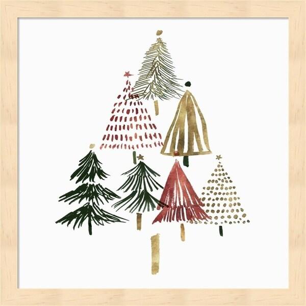 Isabelle Z 'Pine Trees II' Framed Art