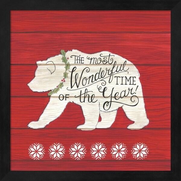 Deb Strain 'The Most Wonderful Time Bear' Framed Art