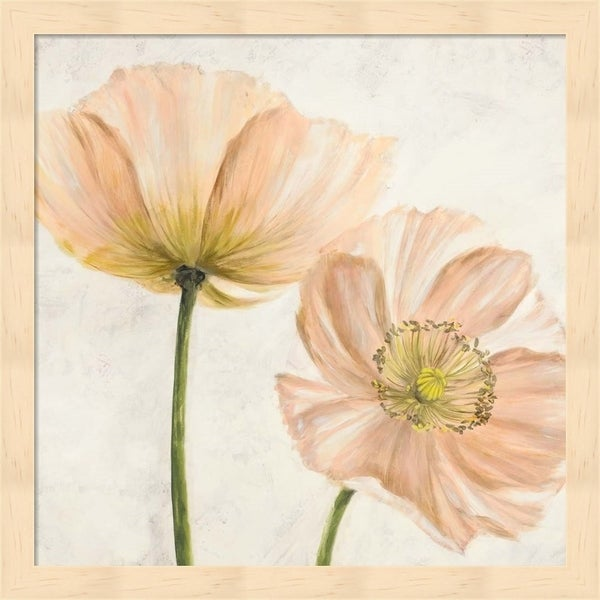 Luca Villa 'Poppies in Pink II' Framed Art