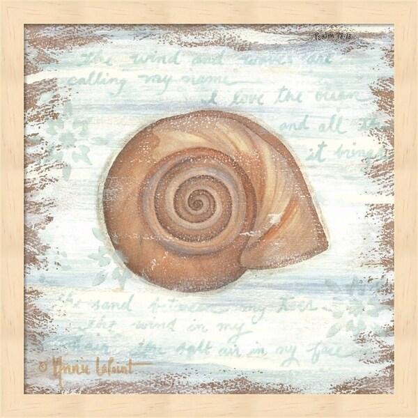 Annie Lapoint 'Ocean Snail' Framed Art
