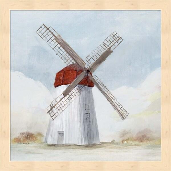 Isabelle Z 'Red Windmill I' Framed Art