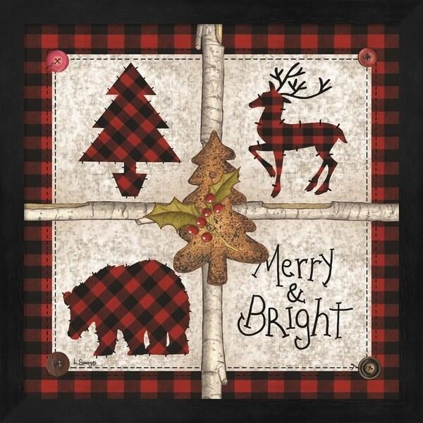 Linda Spivey 'Four Square Merry & Bright' Framed Art