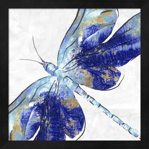 Eva Watts 'Blue Dragonfly' Framed Art