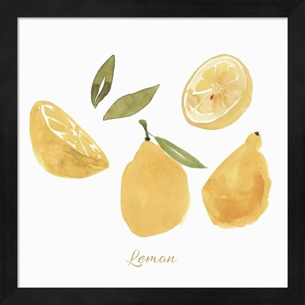 Isabelle Z 'Fresh Lemons' Framed Art
