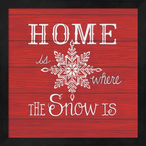 Deb Strain 'Home is Where the Snow Is' Framed Art