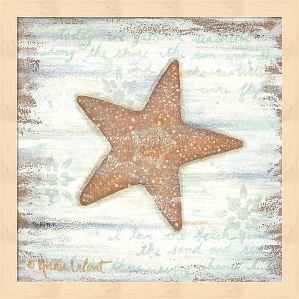 Annie Lapoint 'Ocean Starfish' Framed Art