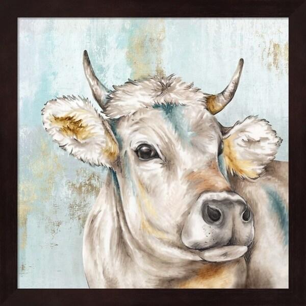 Eva Watts 'Headstrong Cow I' Framed Art