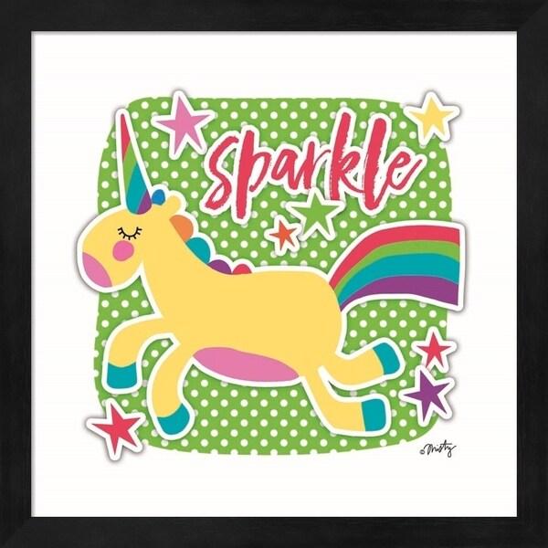 Misty Michelle 'Sparkle Unicorn' Framed Art