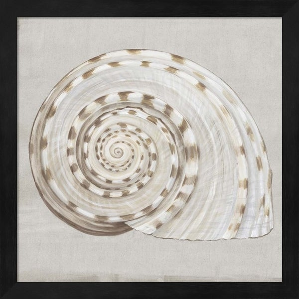Eva Watts 'Neutral Shells I' Framed Art