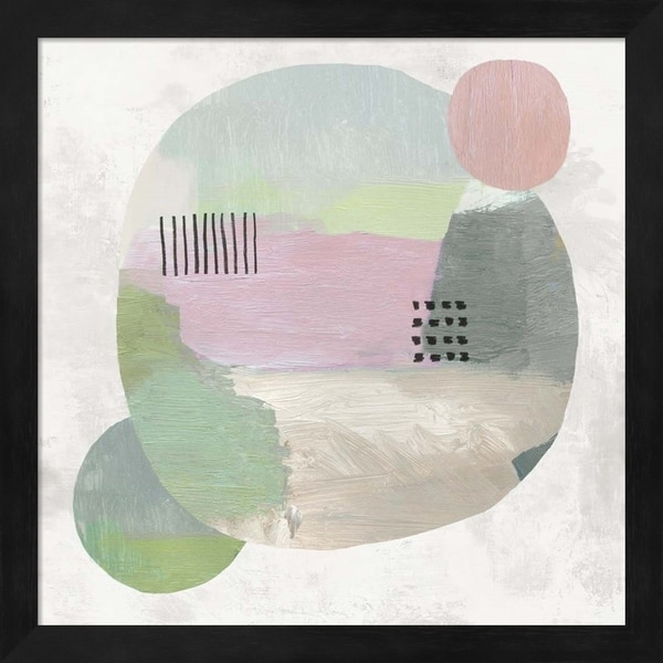 Tom Reeves 'Wool Circles I' Framed Art
