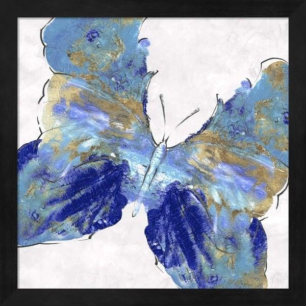 Eva Watts 'Blue Butterfly' Framed Art