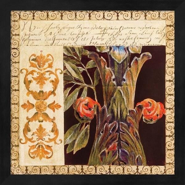Liz Jardine 'Antique French Manuscript I' Framed Art