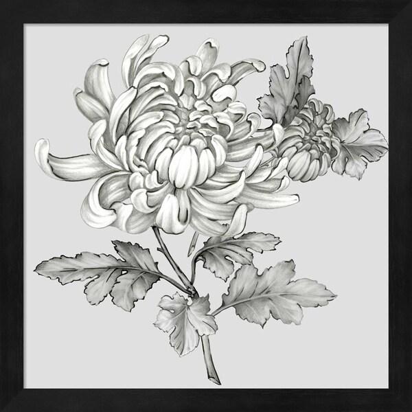 Eva Watts 'Grey Botanical II' Framed Art