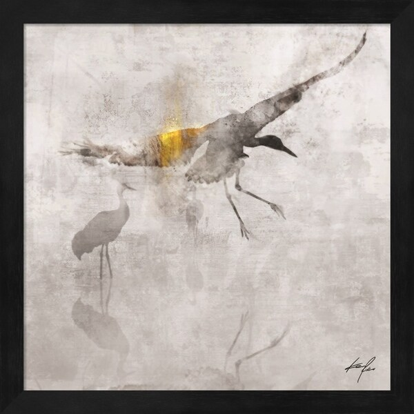 Ken Roko 'Crane in Flight' Framed Art