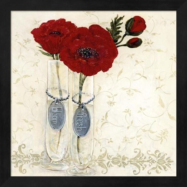 O. Boem 'Inspired Red' Framed Art