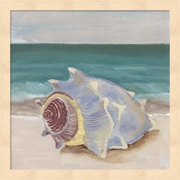 Alicia Ludwig 'She Sells Seashells I' Framed Art