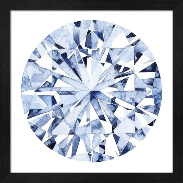 Grace Popp 'Diamond Drops I' Framed Art
