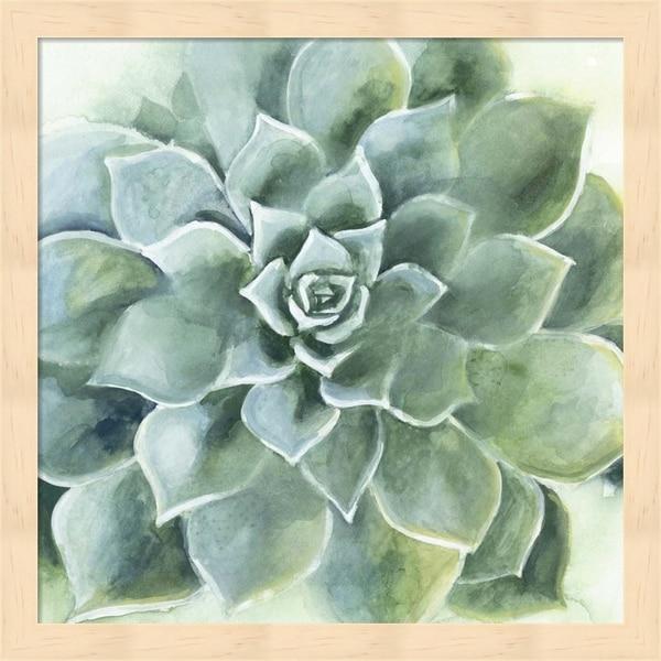 Victoria Borges 'Verdant Succulent II' Framed Art