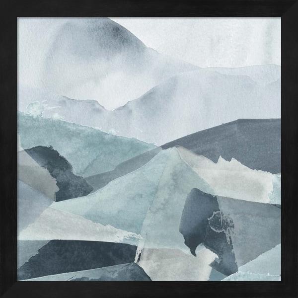 June Erica Vess 'Blue Range IV' Framed Art