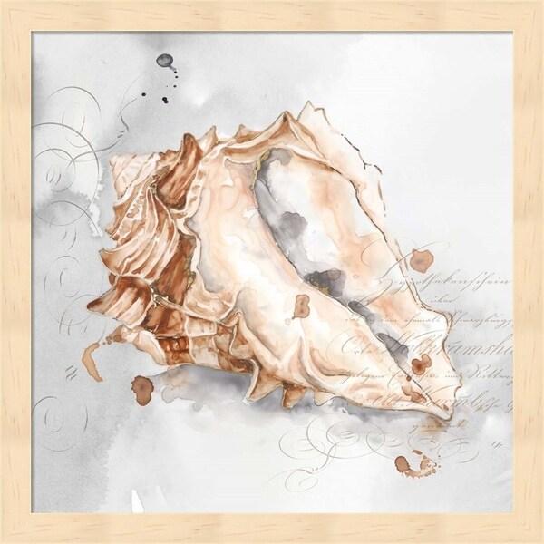 Eva Watts 'Blush Shell III' Framed Art