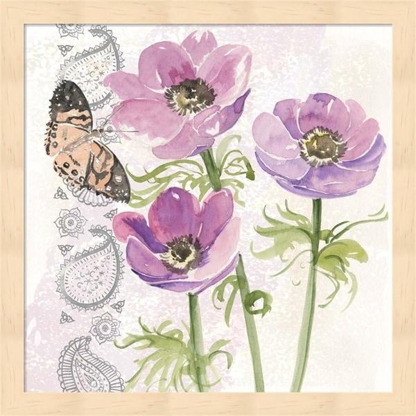 Jennifer Parker 'Flowers & Lace I' Framed Art