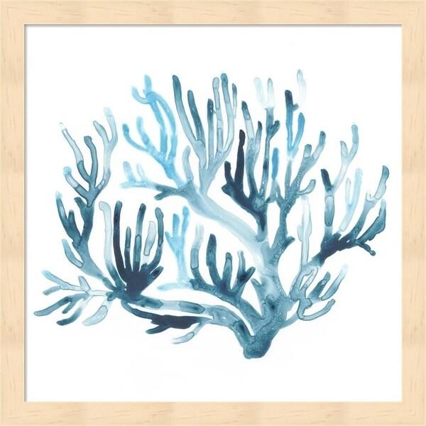 June Erica Vess 'Azure Seafan III' Framed Art