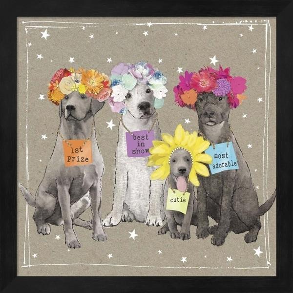 Hammond Gower 'Fancypants Wacky Dogs V' Framed Art