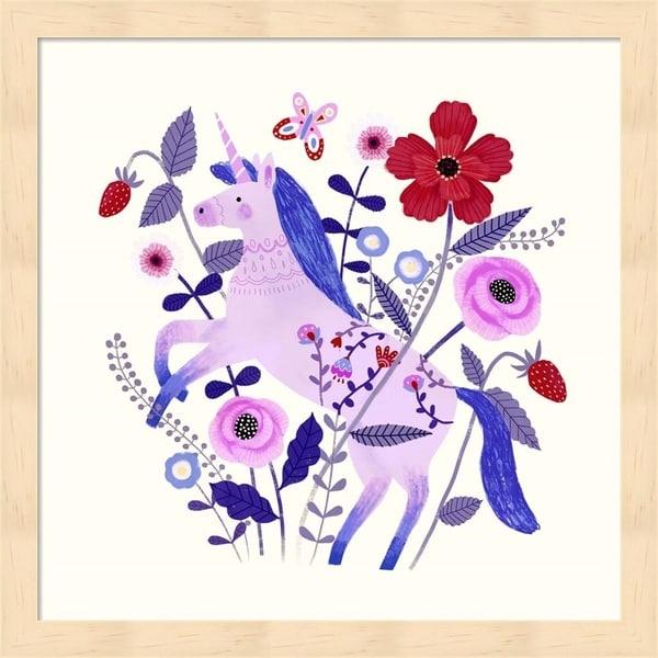 Victoria Borges 'Folk Unicorn II' Framed Art