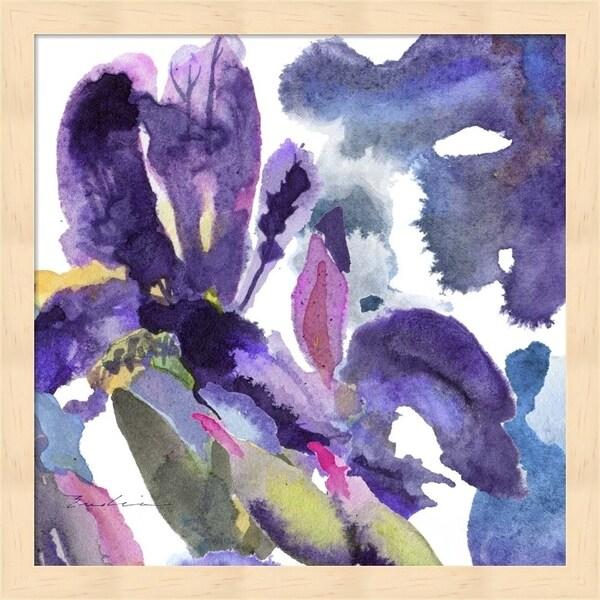 Evelia Designs 'Watercolor Flower Composition II' Framed Art