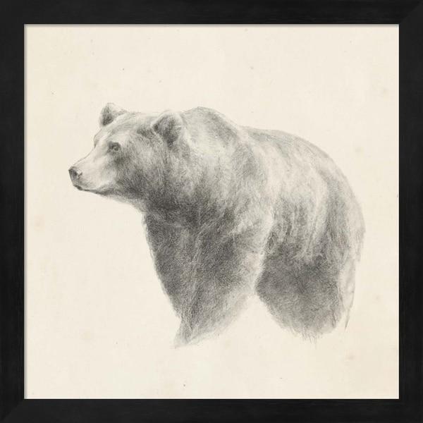 Ethan Harper 'Western Bear Study' Framed Art