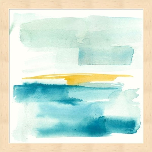 Jennifer Goldberger 'Liquid Horizon IV' Framed Art
