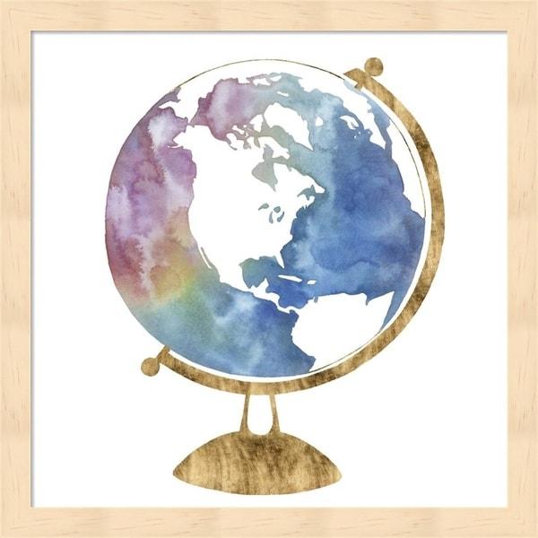 Grace Popp 'Adventure Globe II' Framed Art