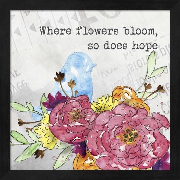 Catherine McGuire 'Bloom & Fly I' Framed Art