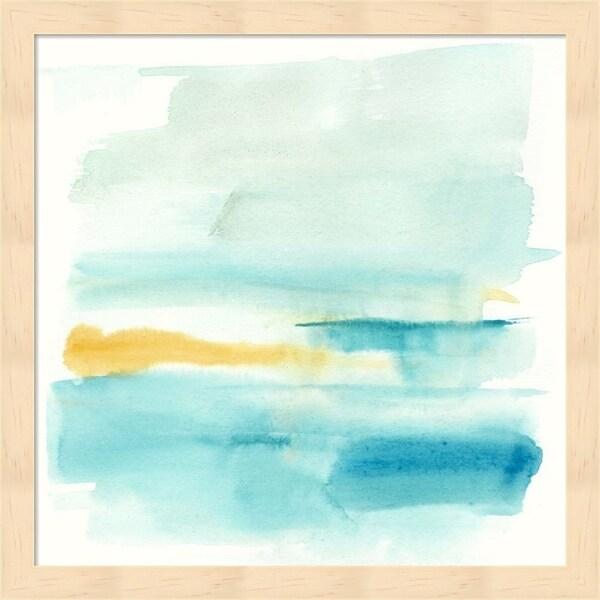 Jennifer Goldberger 'Liquid Horizon VI' Framed Art