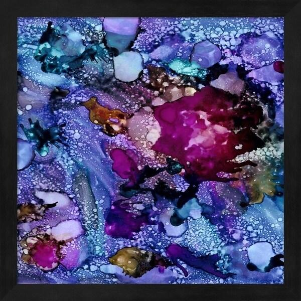 Regina Moore 'Purple Outburst I' Framed Art