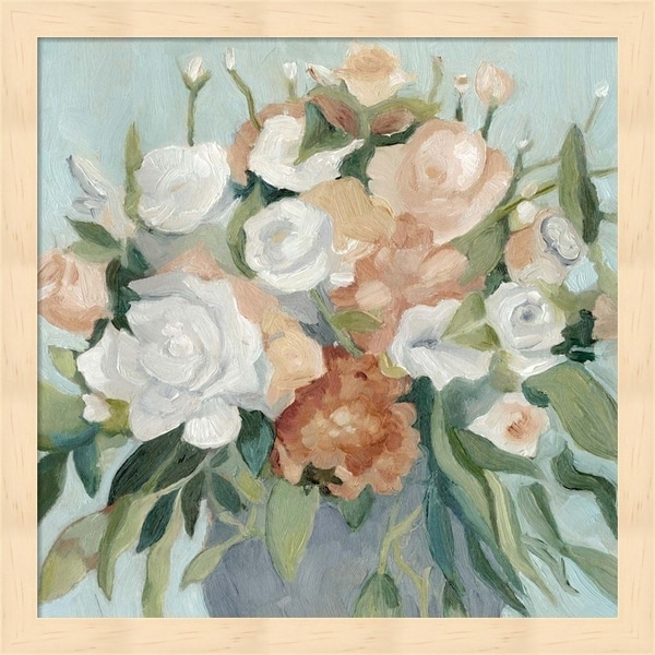Emma Scarvey 'Soft Pastel Bouquet I' Framed Art