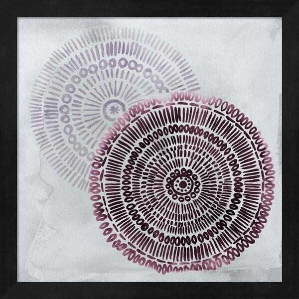Grace Popp 'Berry Mandalas I' Framed Art