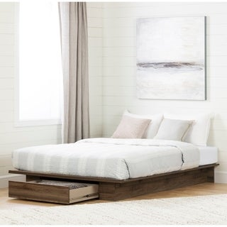 South Shore Lensky Platform Bed with Drawer Size - Full/Queen