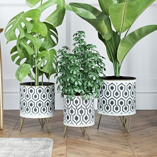 Andrey Modern Planters (Set of 3) - N/A