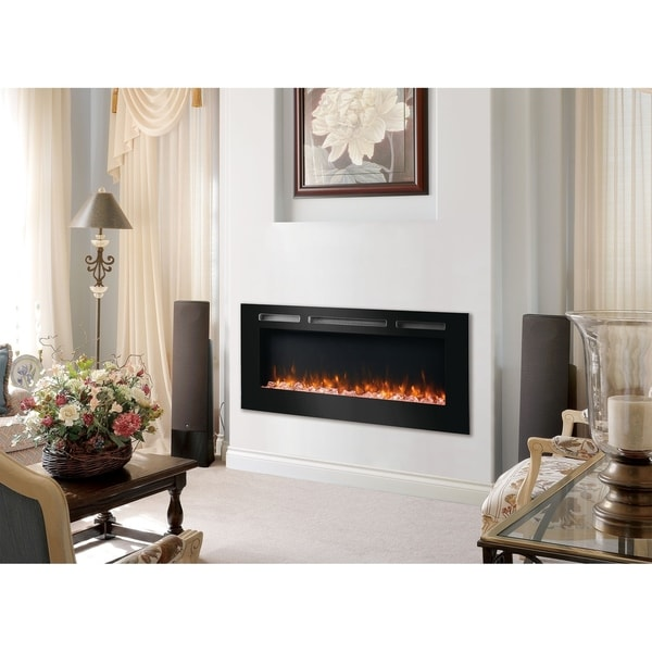Strick & Bolton Vanni Wall-mounted 48-inch LED Electric Fireplace