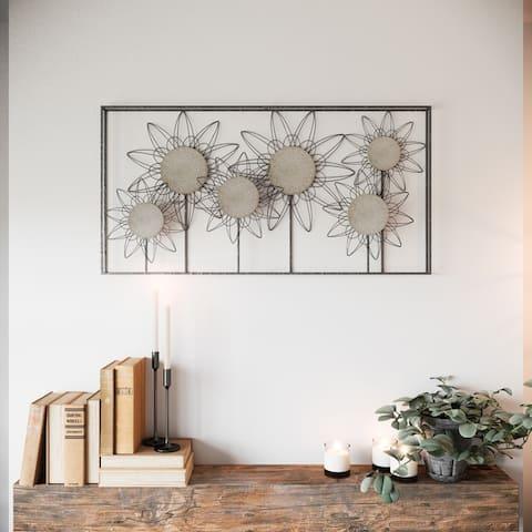 "The Gray Barn Metal Flower Wall Decor - 24""H x 47""W x 2""D"