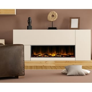 Dynasty Fireplaces Harmony 57 in. LED Wall Mounted Electric Fireplace